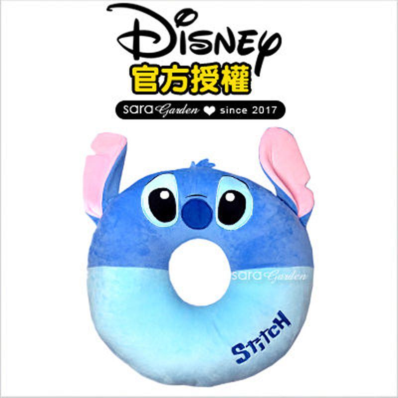 正版 迪士尼 Disney 史迪奇 刺繡 刺繡 坐墊 靠枕 午睡枕 抱枕 靠枕 汽車 辦公室 柔軟 絨毛 交換 禮物 送禮 禮品