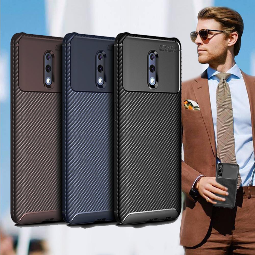爵士焦點 OPPO Reno 標準版 碳纖維防指紋軟式手機殼(碳鋅黑)