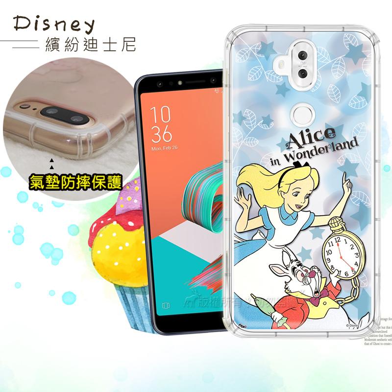迪士尼授權正版 ASUS ZenFone 5Q ZC600KL 繽紛空壓安全手機殼(愛麗絲)