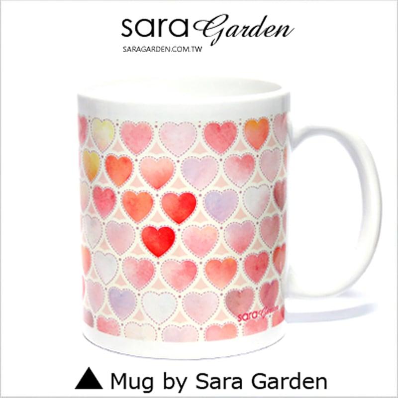 【Sara Garden】客製 手作 彩繪 馬克杯 Mug 渲染 水彩 愛心 雲彩 咖啡杯 陶瓷杯 杯子 杯具 牛奶杯 茶杯