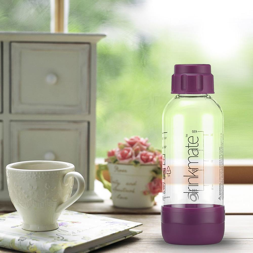 drinkmate氣泡水機專用0.5L水瓶(紫)-生活工場