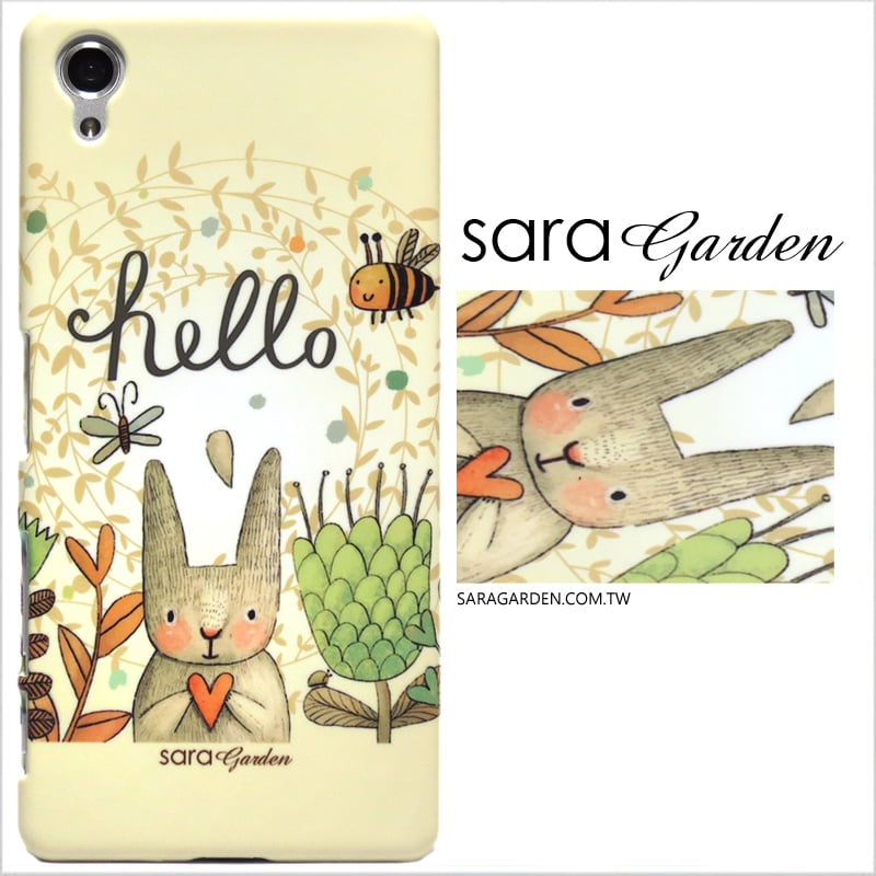 【Sara Garden】客製化 手機殼 蘋果 iphoneX iphone x 兔兔森林 保護殼 硬殼