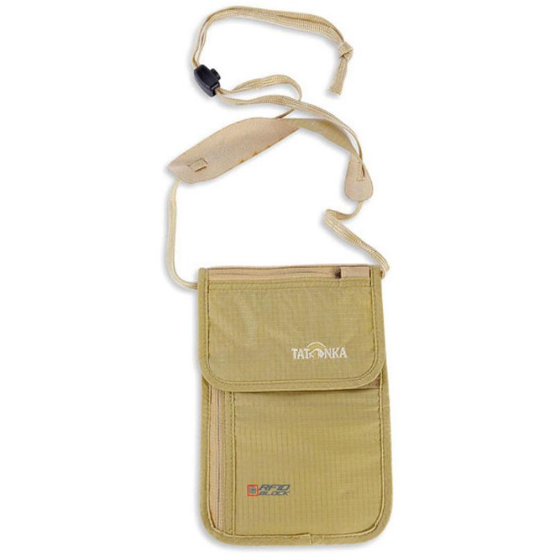 【德國TATONKA】防RFID 頸掛式貼身證件袋 褐