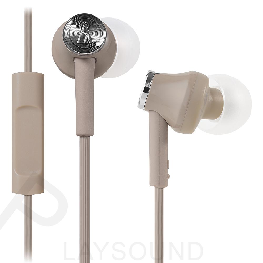 鐵三角 ATH- CK350iS (BG) 米色 智慧型手機專用 耳道式耳機