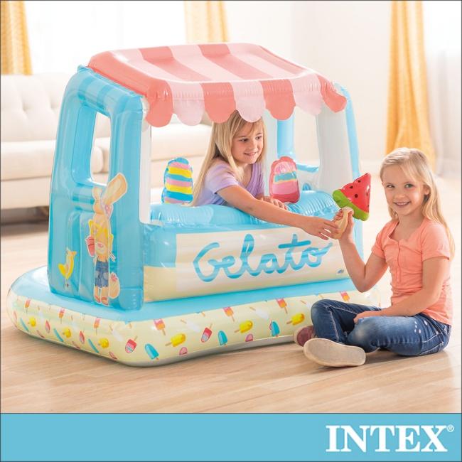 【INTEX】冰淇淋店遊戲屋/戲水二用_適用2-6歲(48672)