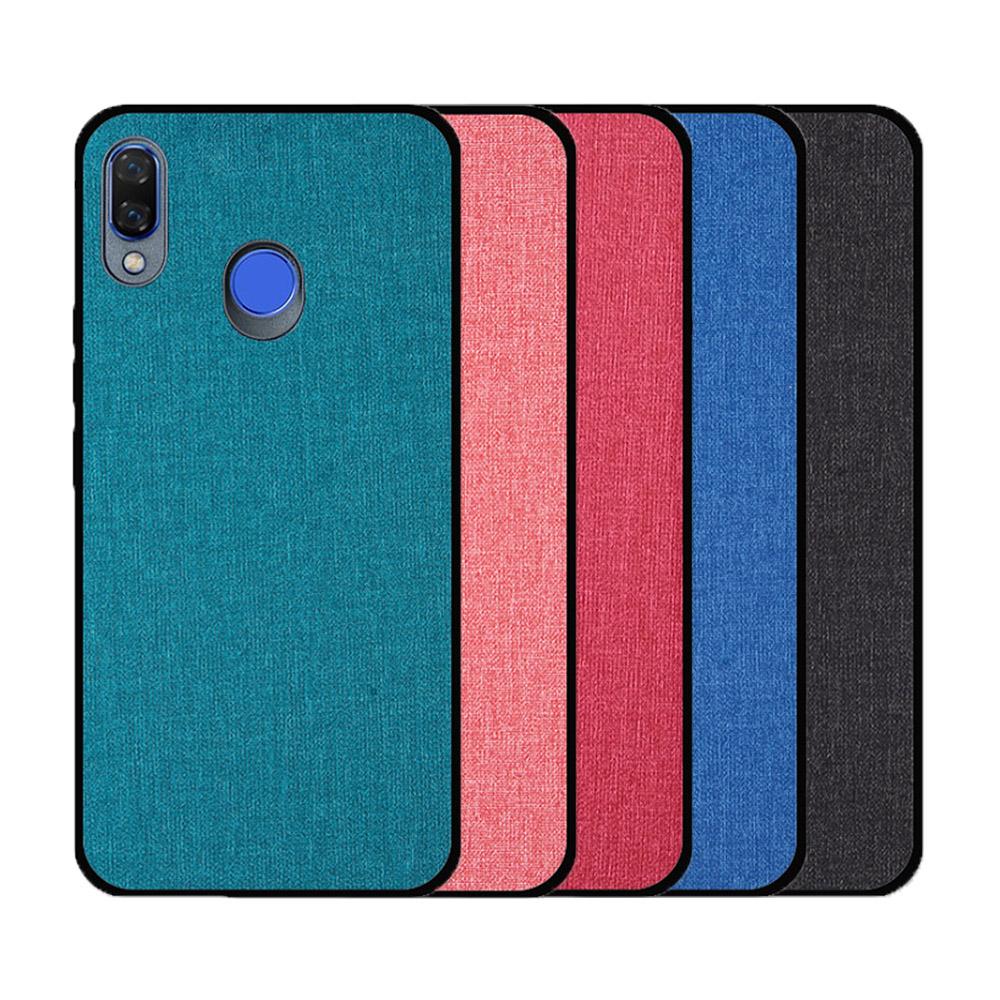 QinD HUAWEI nova 3 布藝保護套(格調藍)