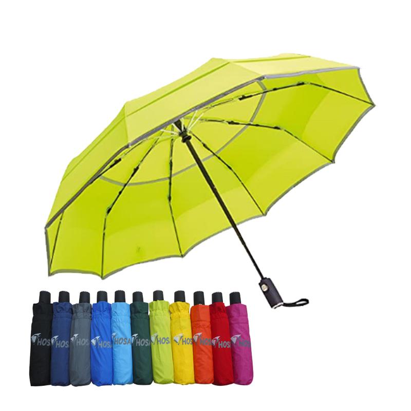 【HOSA】安全雙反光自動傘-草綠