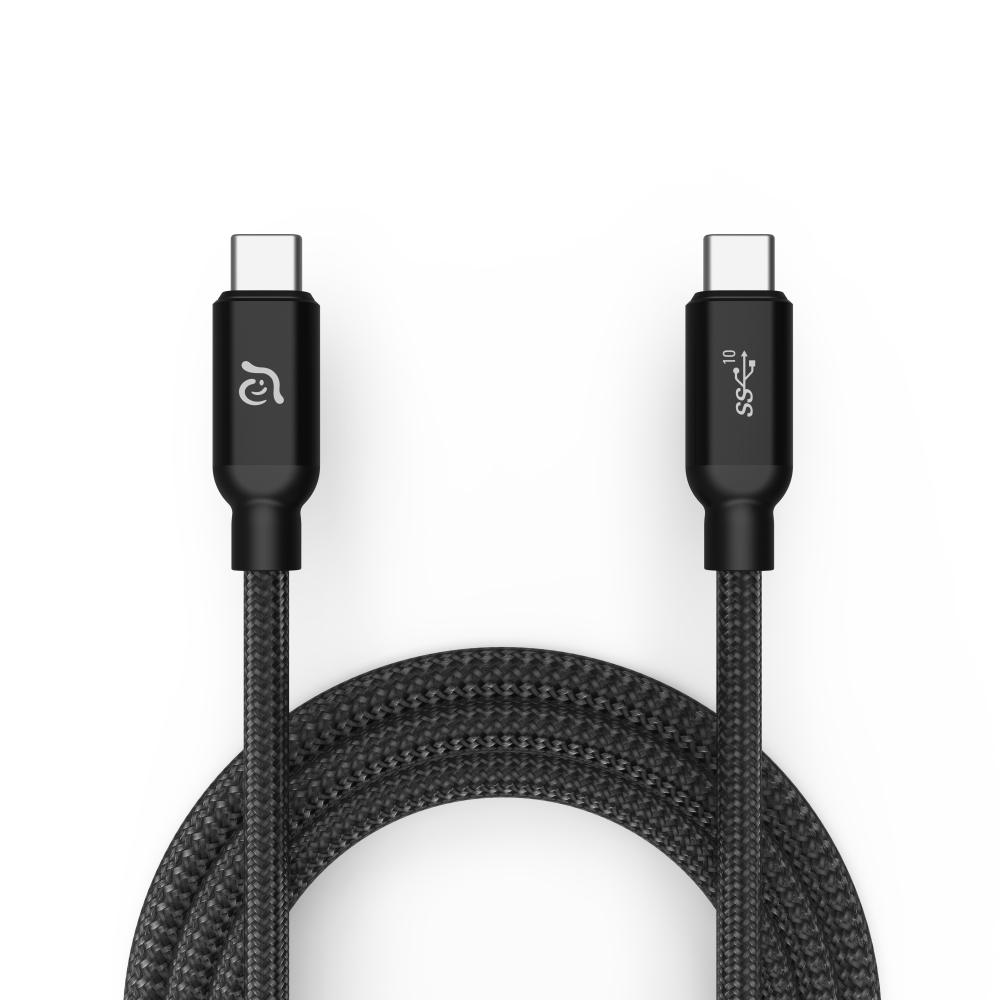 ADAM CASA USB3.1 USB-C 高速充電傳輸線 1M - 黑