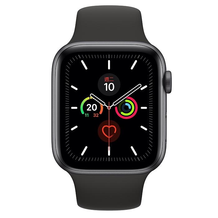 Apple Watch S5 LTE版 44mm太空灰鋁錶殼黑色運動錶帶MWWE2TA