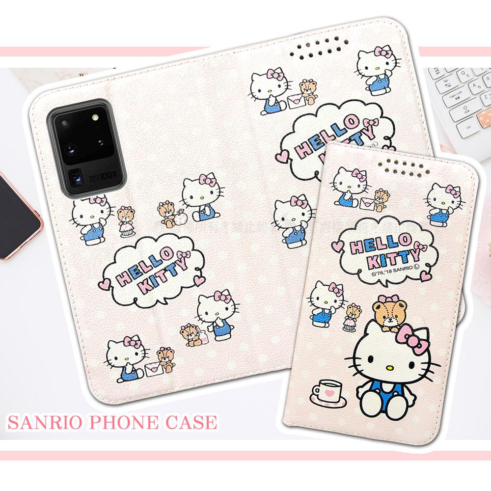 三麗鷗授權 Hello Kitty貓 三星 Samsung Galaxy S20 Ultra 粉嫩系列彩繪磁力皮套(小熊)