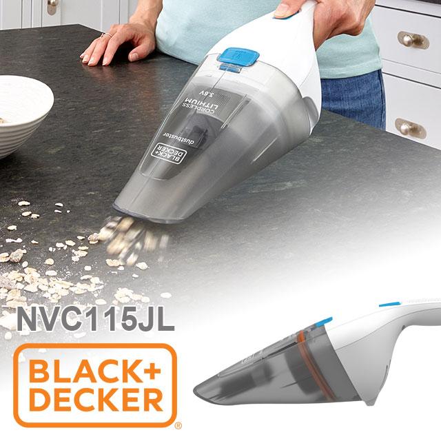美國 BLACK+DECKER 輕巧手持 無線吸塵器 NVC115JL