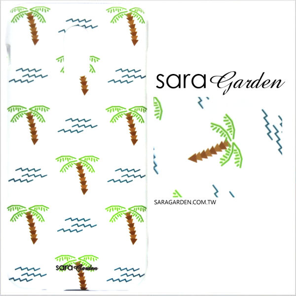 【Sara Garden】客製化 手機殼 HTC 10 Pro 手繪椰子樹 保護殼 硬殼