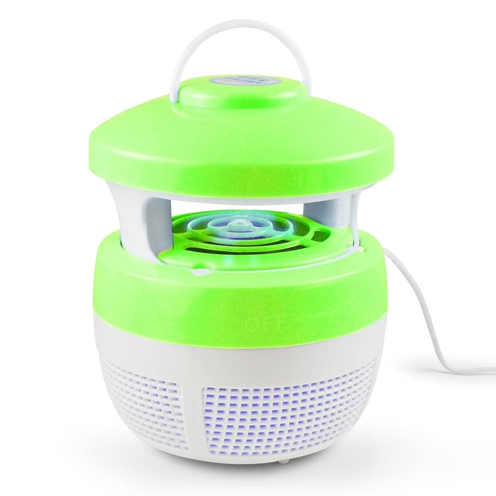 最新可吊掛型 USB光觸媒吸入式捕蚊燈-綠色