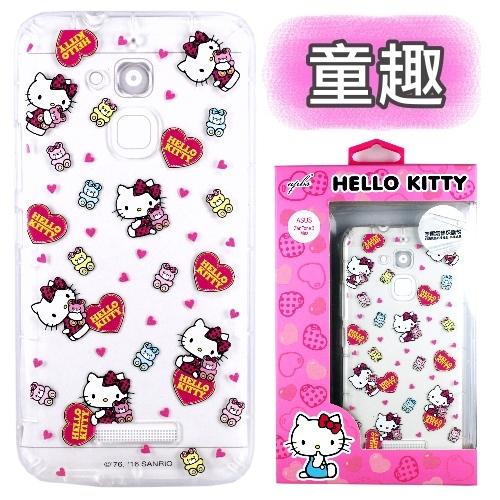 【Hello Kitty】ASUS ZenFone 3 Max 5.2吋 ZC520TL 彩繪空壓手機殼(童趣)
