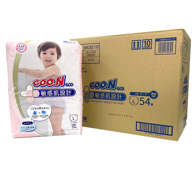【GOO.N】大王敏感肌(黏)-L54x4包/箱