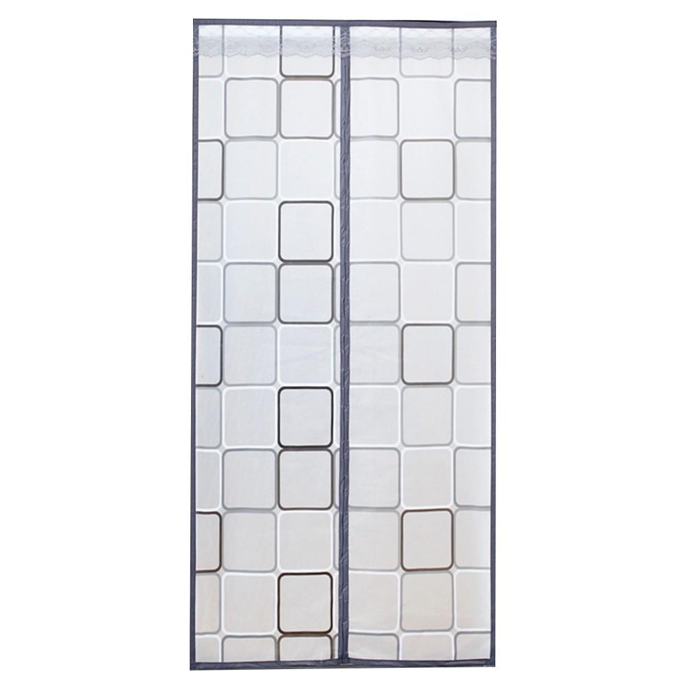 【FJ】防蚊自動閉合EVA材質磁吸空調門簾(01款幾何圖形)