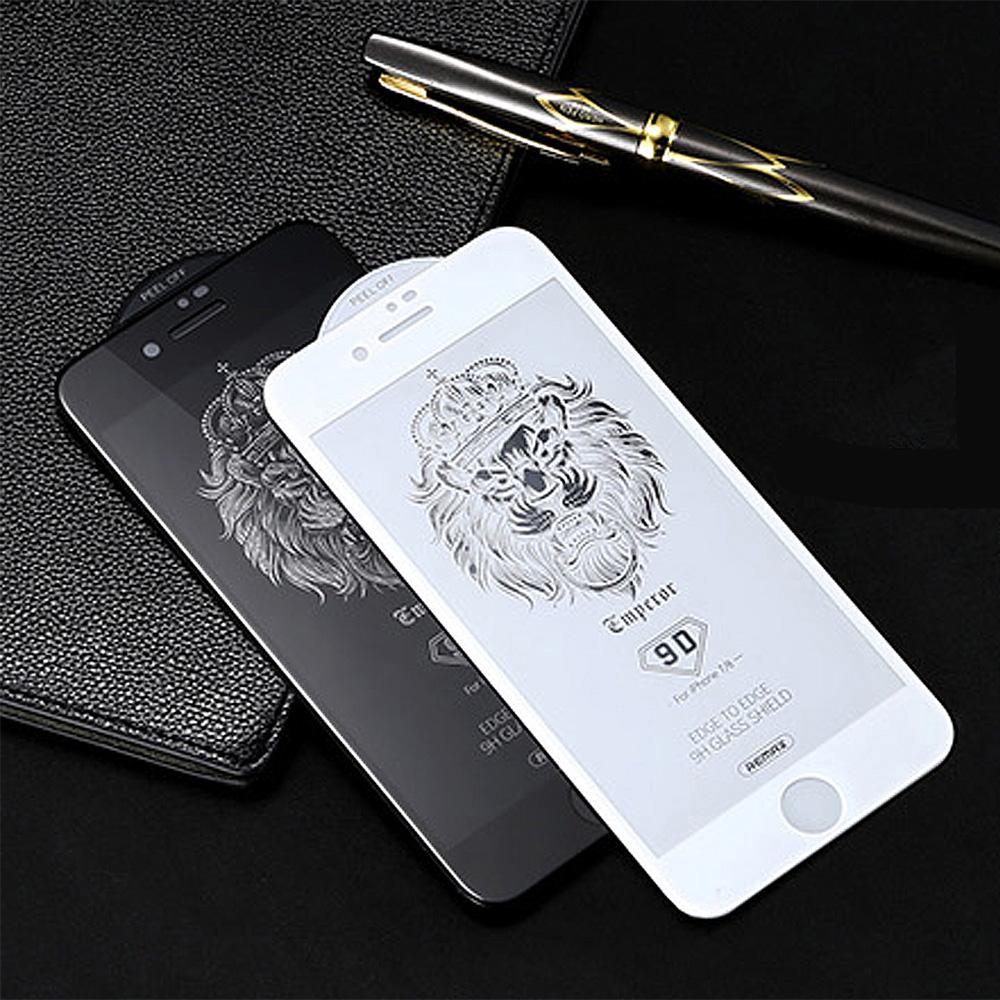 REMAX Apple iPhone 8/7 Plus 帝王 9D 鋼化玻璃膜(黑色)