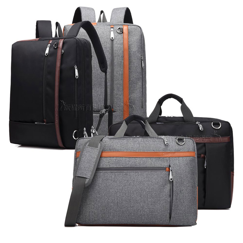 [17.3吋] 新本格 真三用款手提包/側背包/後背包 防潑水平板筆電商務包(星際黑)