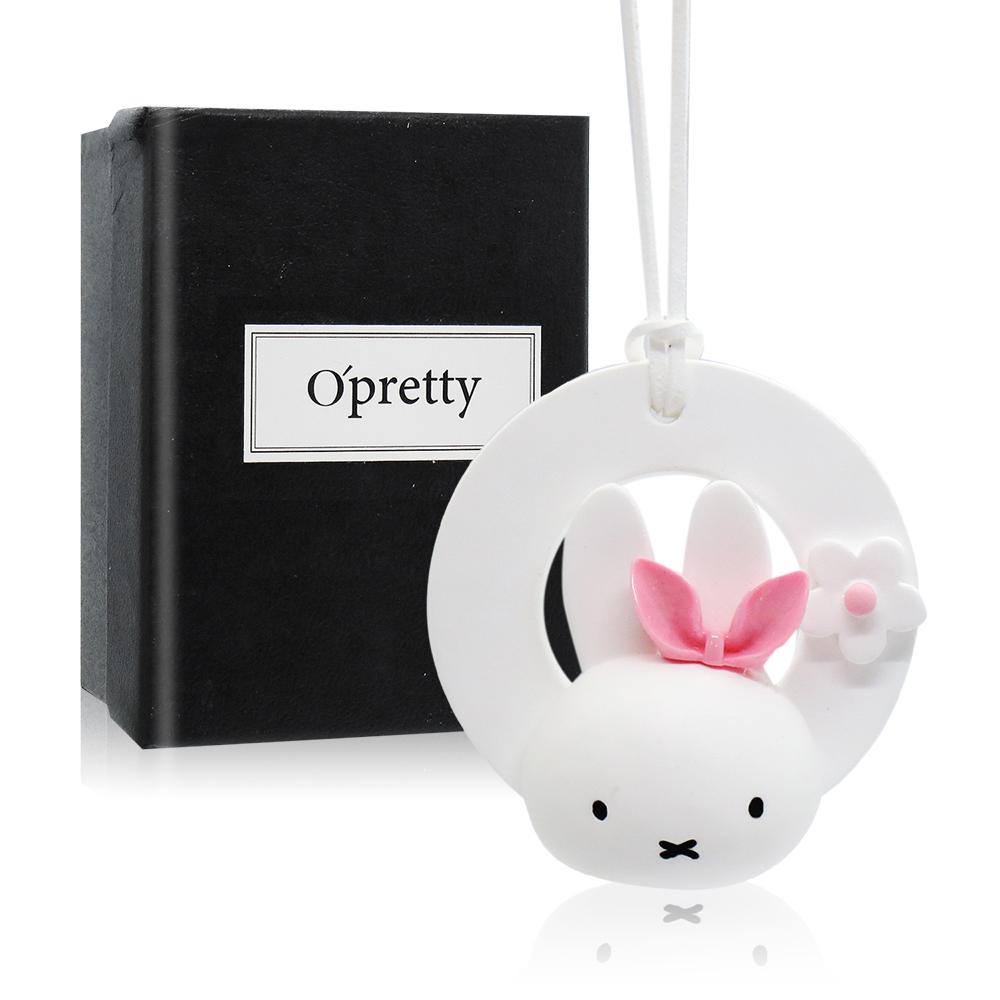 O'Pretty 歐沛媞 室內/車用 香氛擴香石掛飾-環形粉色小兔子(3.8X7.2X7.5cm)