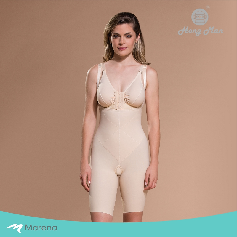 MARENA 強效完美塑形系列 腹部加強美體膝上型塑身衣(膚色-L)