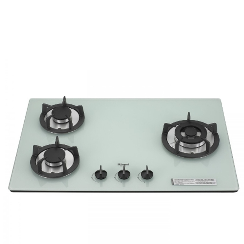 (全省安裝)林內三口玻璃防漏檯面爐白色鑄鐵爐架(與RB-302GH-W同款)瓦斯爐RB-302GH-W_LPG