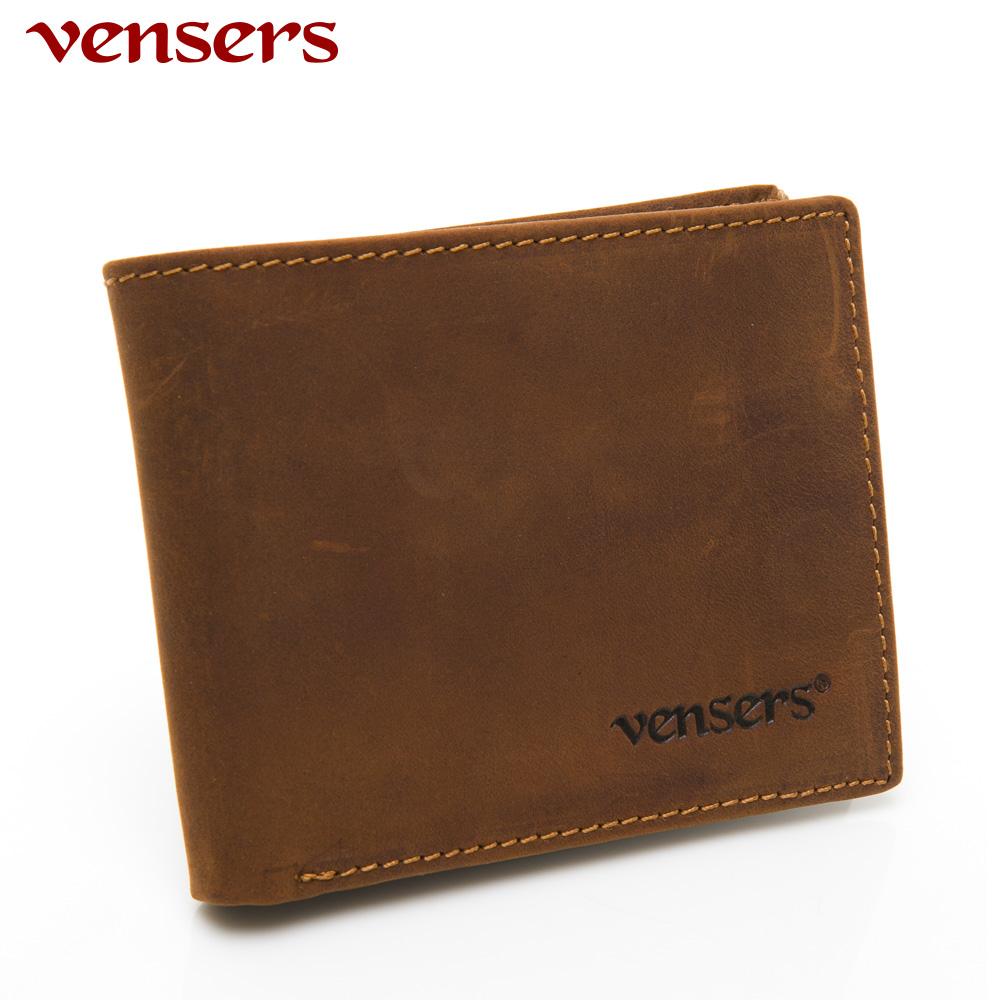 【vensers】小牛皮潮流個性皮夾~(NB019901瘋馬皮短夾)