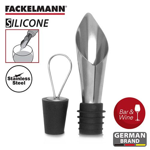 【德國Fackelmann】黑金系列瓶塞斟酒(2入組)