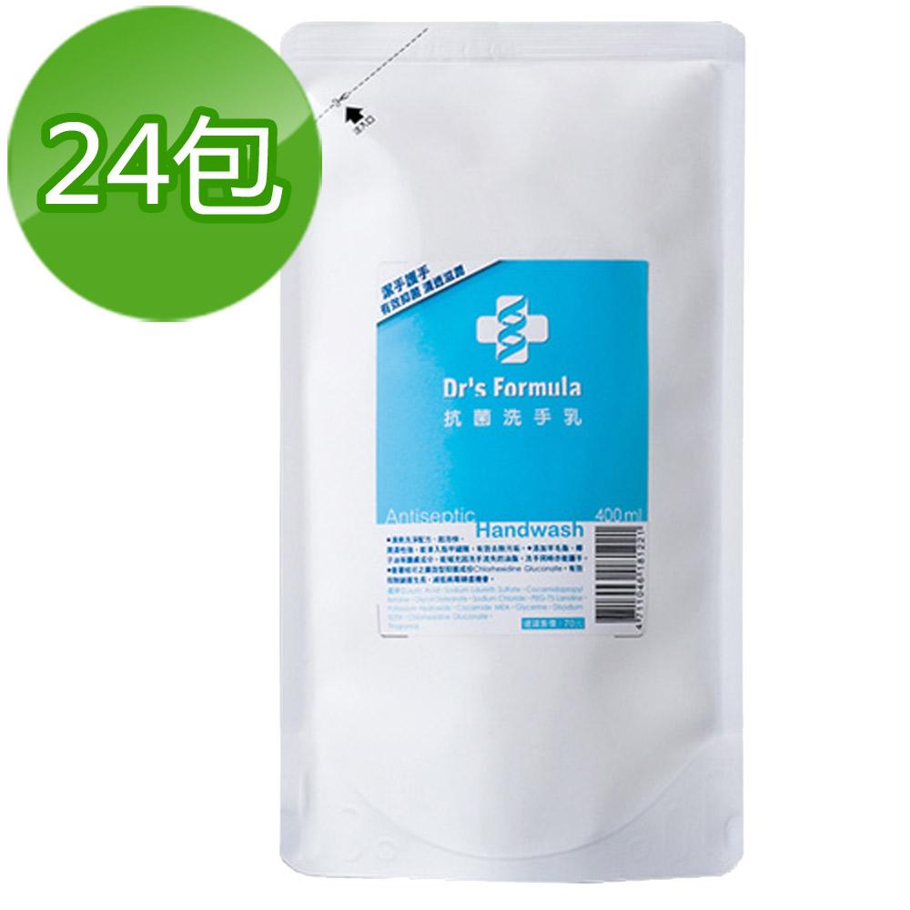 《台塑生醫》Dr's Formula抗菌洗手乳補充包400ml(24包)