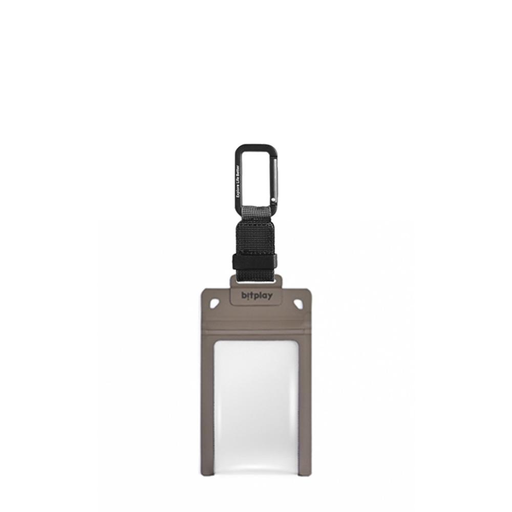bitplay AquaSeal 防水機能證件套 - 沙漠黃 + 訂製掛鉤 - 黑色