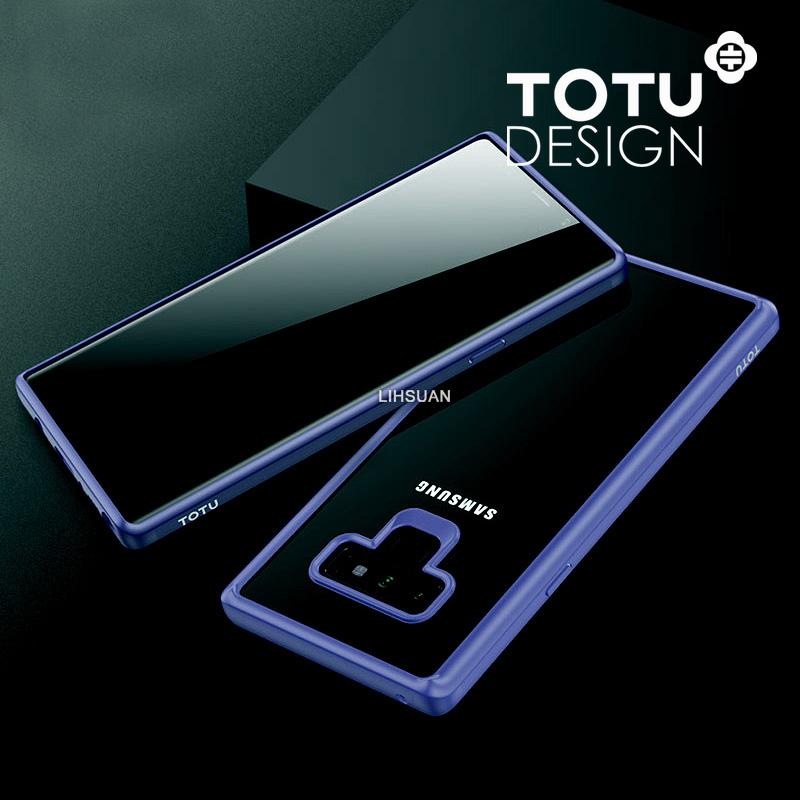 【TOTU台灣官方】Note9防摔手機殼 晶彩系列 藍色