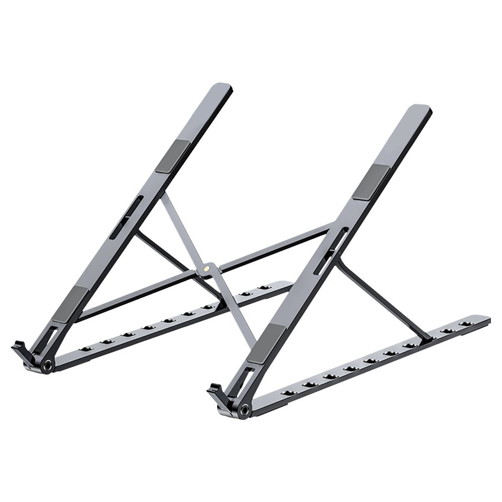 FJ 全鋁合金摺疊筆電散熱支架N5黑色
