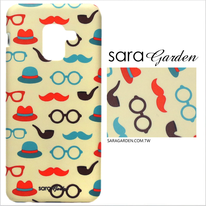 【Sara Garden】客製化 手機殼 蘋果 iPhone7 iphone8 i7 i8 4.7吋 英倫翹鬍子 手工 保護殼 硬殼