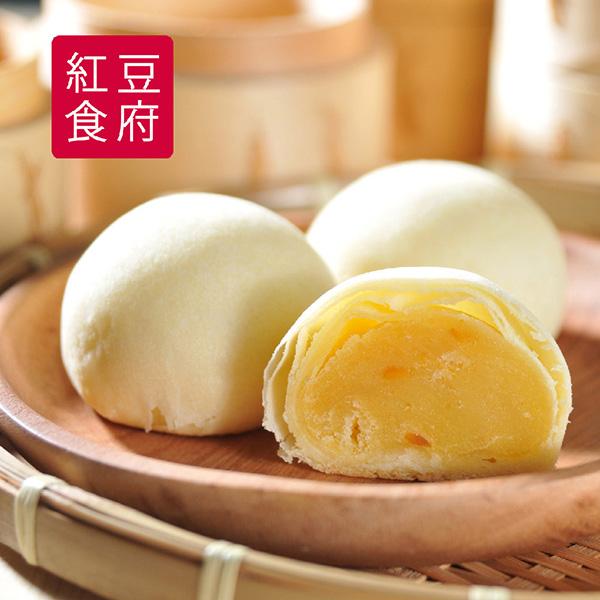 (9/22-9/30出貨)預購《紅豆食府PU》小饅燒蛋黃綠豆椪禮盒(6顆一盒)(1盒)