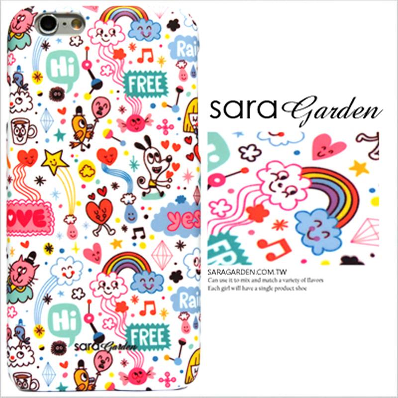 【Sara Garden】客製化 手機殼 蘋果 iPhone6 iphone6S i6 i6s 手繪 繽紛 微笑 動物 保護殼 硬殼 限定