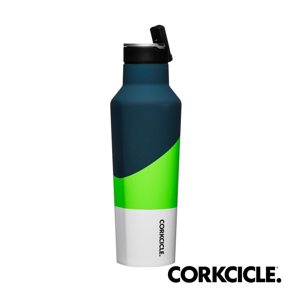 美國CORKCICLE Color Block系列三層真空運動易口瓶/保溫瓶600ml-珍珠綠