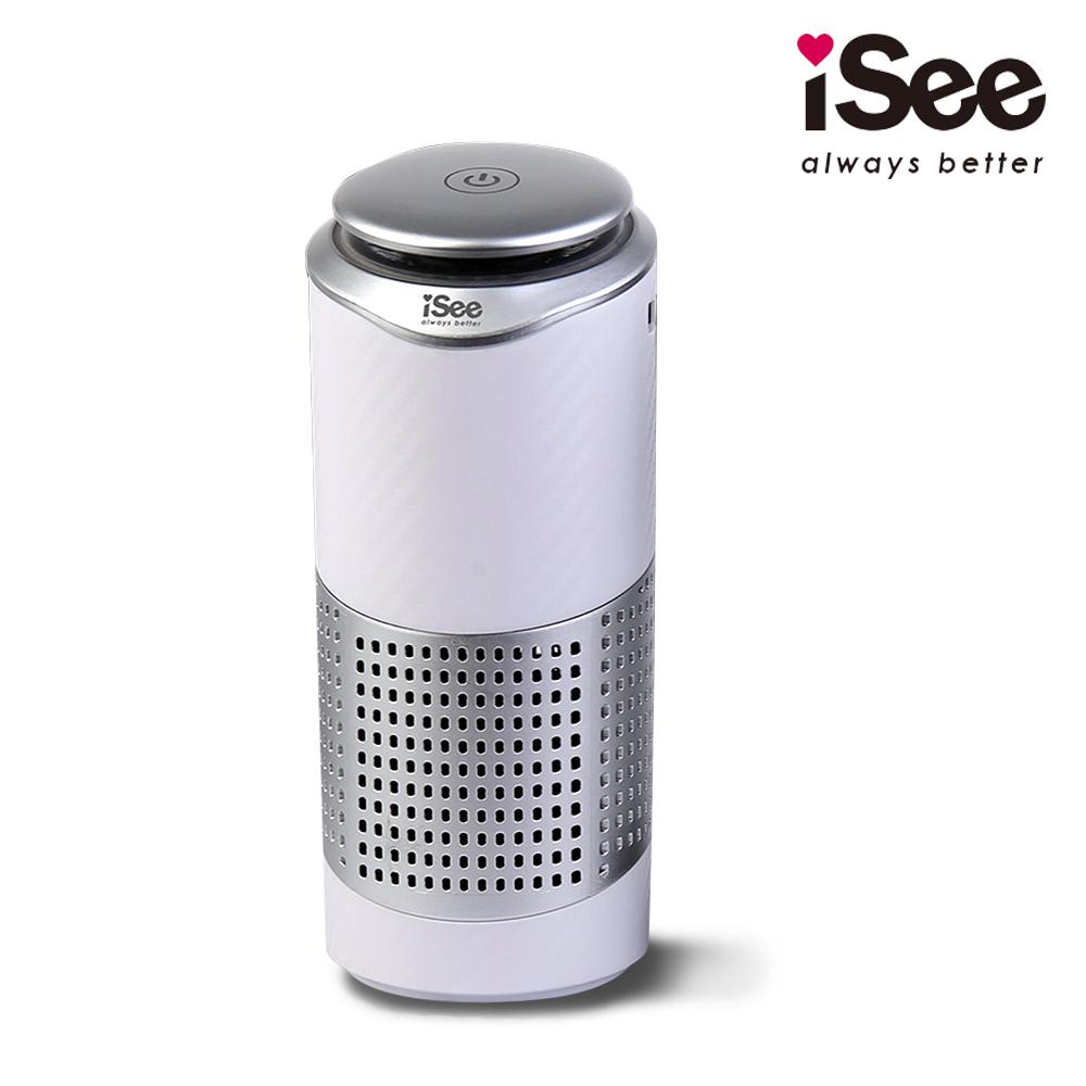 〈iSee〉淨速吸U-Clean USB空氣清淨機(隨身型車用/居家兩用)-白色