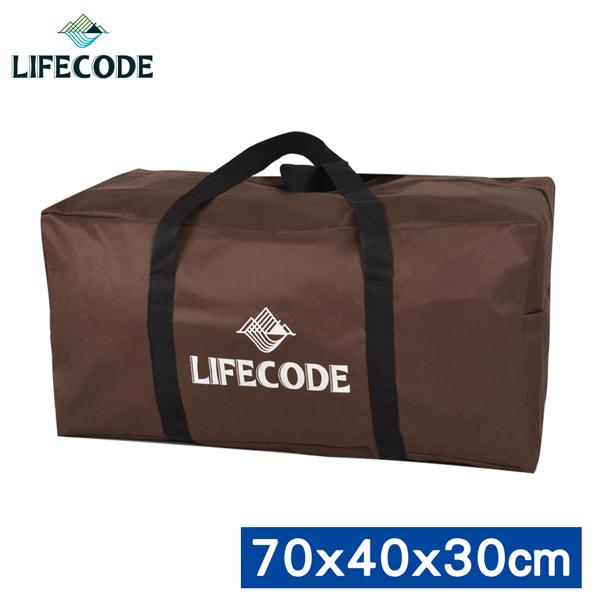 【LIFECODE】野營裝備袋70x40x30cm (L號)-(咖啡色)