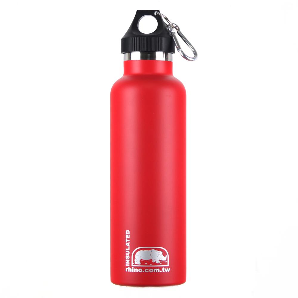 犀牛RHINO Vacuum Bottle雙層不銹鋼保溫水壺750ml-洋紅