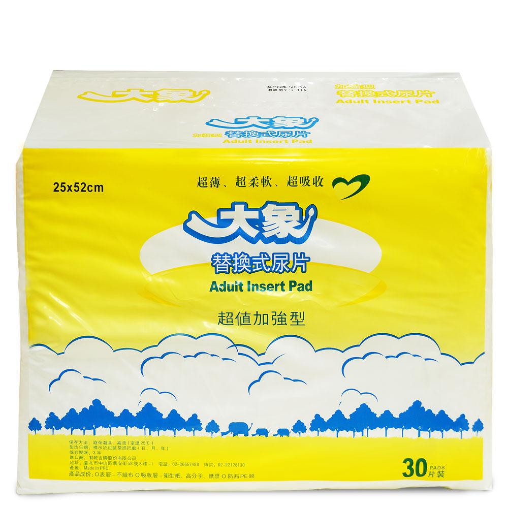 大象 成人平面替換式尿片(30片x6包/箱,共180片)