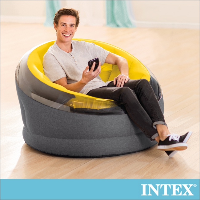 【INTEX】帝國星球椅 /充氣沙發/懶骨頭112x109x高69cm-芥末黃(66582)
