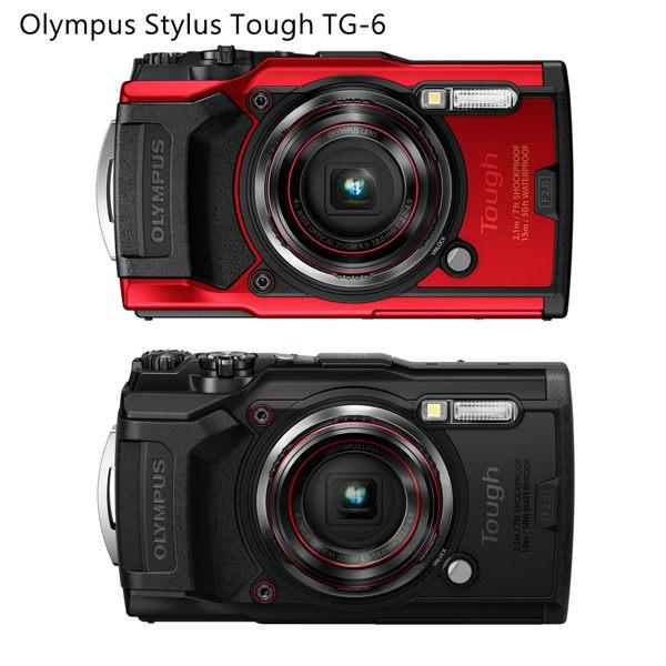 OLYMPUS Stylus Tough TG-6 防水相機- 紅色 送64G超值組 公司貨 保固一年