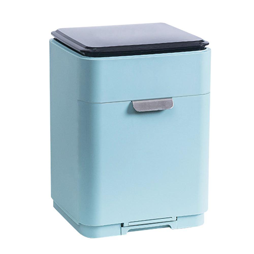 【FJ】新款日式無印雙層碗盤瀝水架(廚房必備)淺藍色
