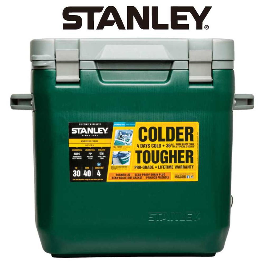 【美國Stanley】可提式Cooler冰桶 28.3L-綠色(9/30~10/3訂單會延後至10/5開始出貨)