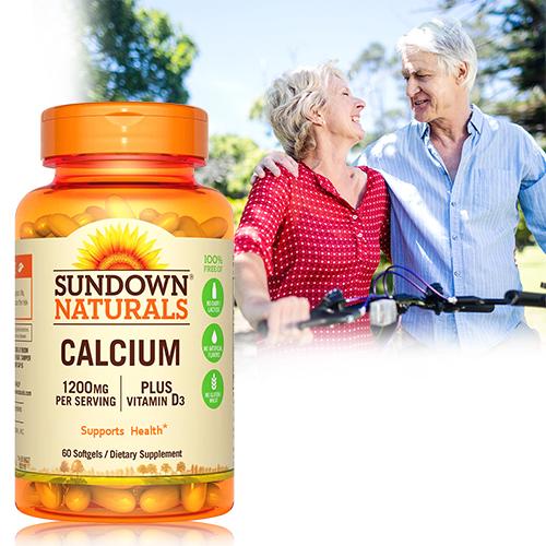 美國Sundown日落恩賜 液態鈣+D3軟膠囊(60粒/瓶)