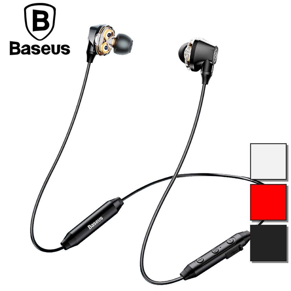 Baseus 倍思 Enock S10 雙動圈藍牙耳機 - 黑色