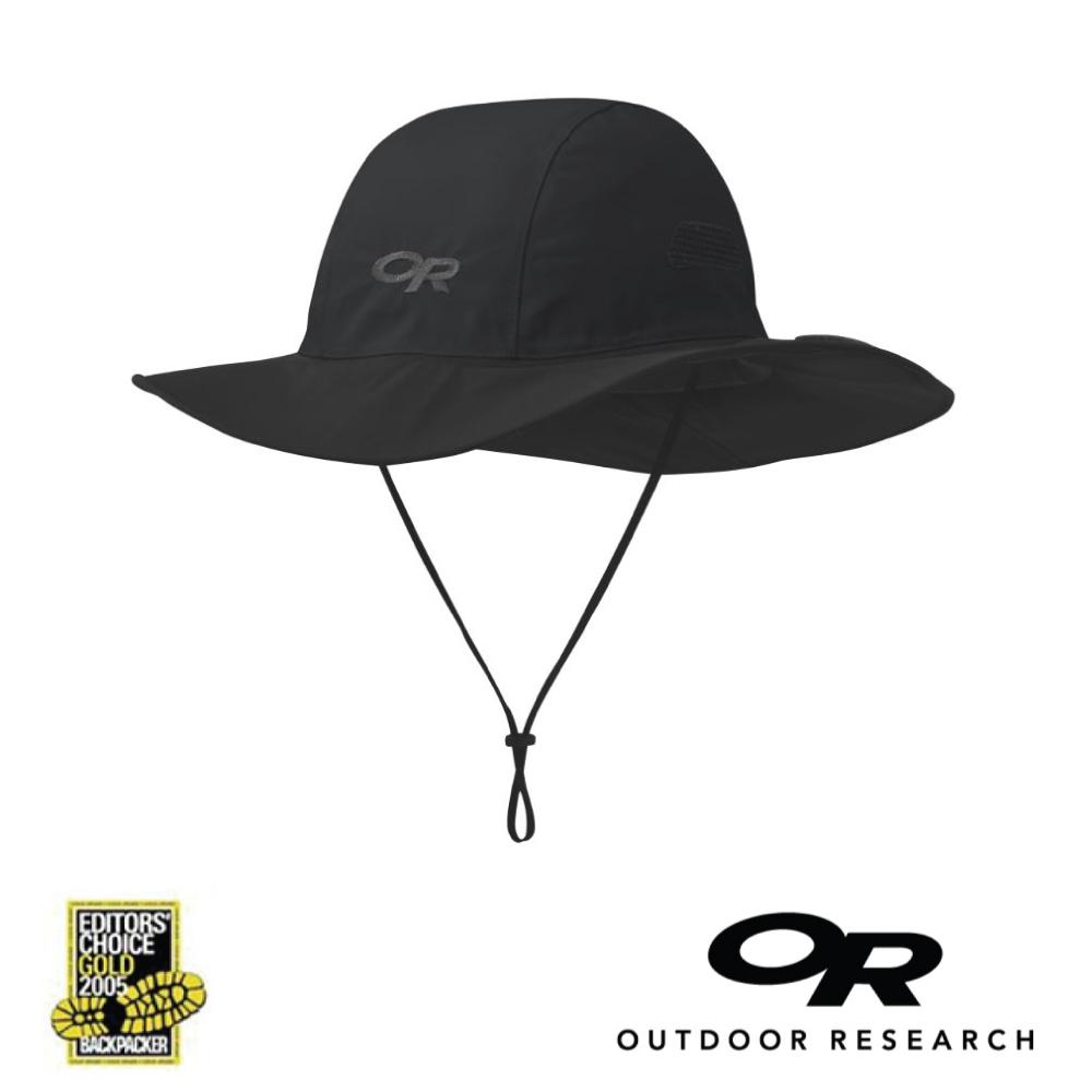 【美國Outdoor Research】黑色M-經典款防水透氣防曬可折疊遮陽帽