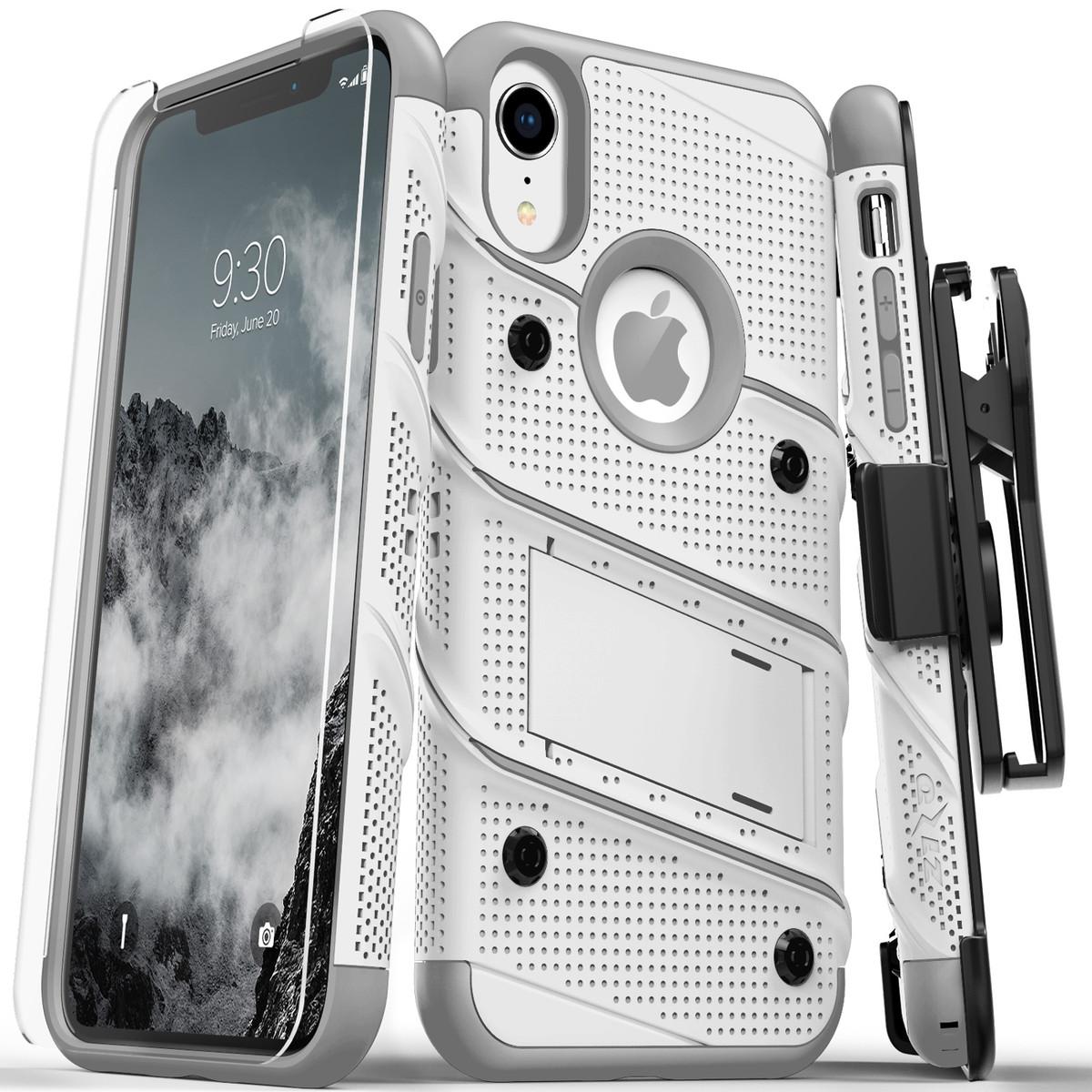 【Zizo】Bolt系列 軍規防摔殼 iPhoneXR 白灰