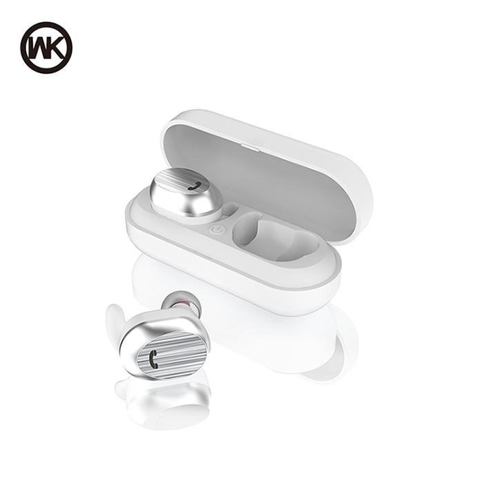 WK BD800 無線雙耳藍芽耳機-白