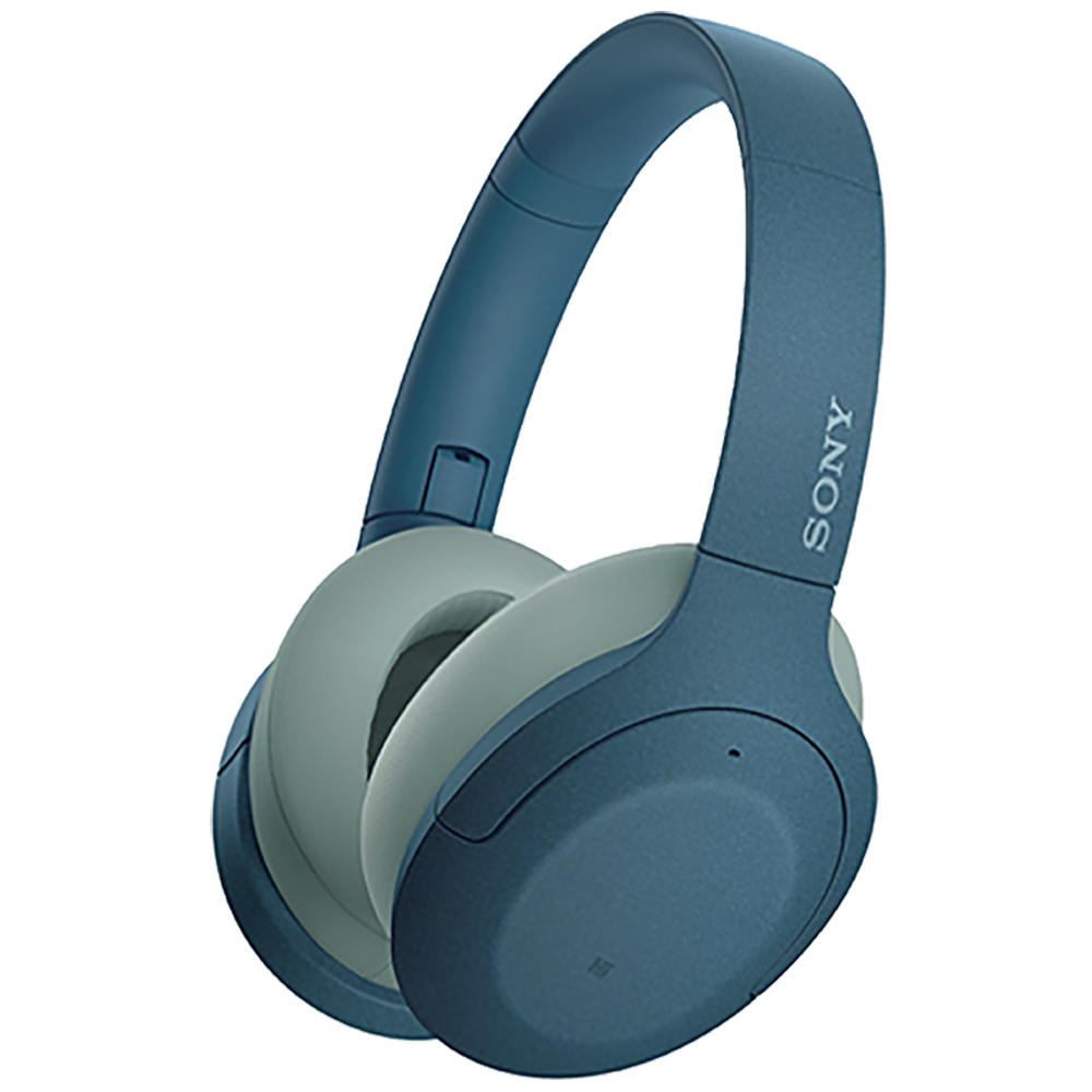 【SONY 索尼】耳罩式無線降噪耳機 WH-H910N 藍色