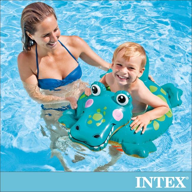 【INTEX】造型游泳圈-鱷魚_適用3-6歲(58221)